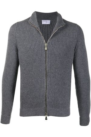 FEDELI Zip-through ribbed sweater