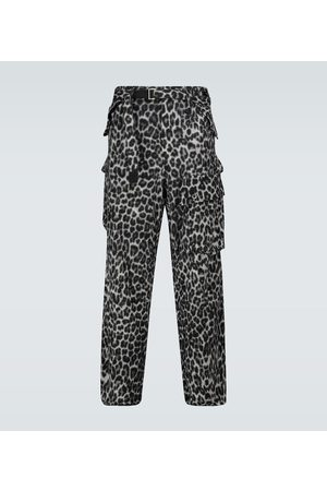 SACAI Cargohose Leopard Shrivel aus Wolle