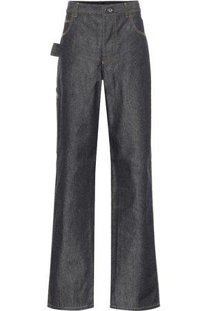 Bottega Veneta Mid-Rise Jeans mit weitem Bein
