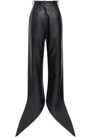 MATÉRIEL by Aleksandre Akhalkatsishvili Faux Leather Pants W/ Self-tie Cuffs