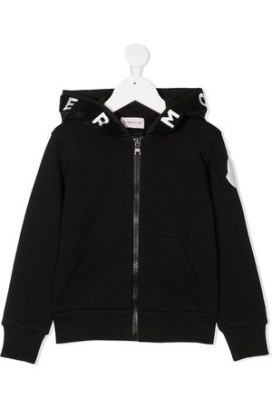 Moncler Hood logo zip-up jacket