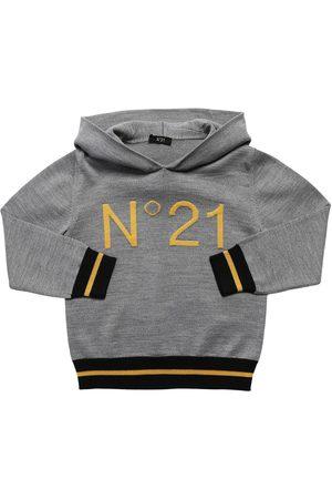 Nº21 Hoodie Aus Wollmischfleece Mit Logo