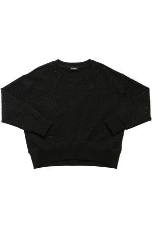 Diesel Damen Sweatshirts - Verziertes Sweatshirt Aus Baumwolle