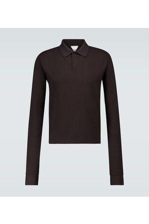 Bottega Veneta Langarm-Poloshirt aus Baumwolle