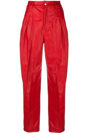 KOCHÉ High-waist faux leather trousers
