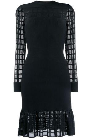 Alexander McQueen Ottoman knit mini dress