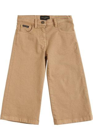 Dolce & Gabbana Jeans Aus Baumwolldenim Mit Weitem Bein