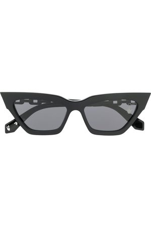 OFF-WHITE ACETATE CAT EYE SUNGLASSES OFF WHI