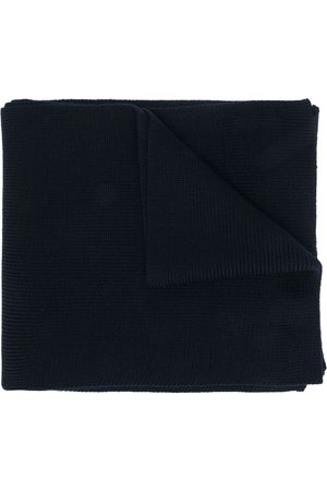 Moncler Logo-patch virgin wool scarf