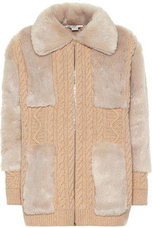 Stella McCartney Cardigan aus Wolle und Faux Fur