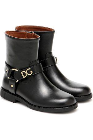 Dolce & Gabbana Verzierte Ankle Boots aus Leder