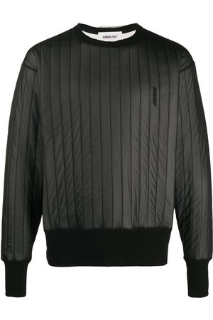 AMBUSH Embroidered logo quilted sweatshirt