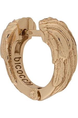 EMANUELE BICOCCHI Ohrringe - Wing textured hoop earring