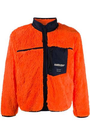 AMBUSH Logo-print fleece jacket