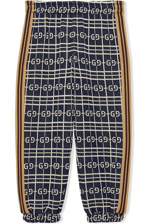 Gucci Children's GG check cotton jersey trousers