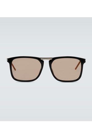 Gucci Eckige Sonnenbrille aus Acetat