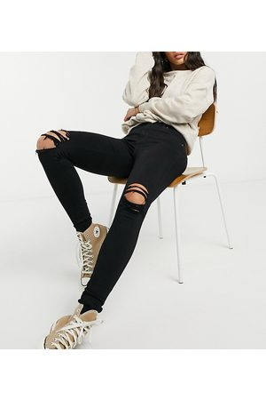 Dr Denim Damen High Waisted - Lexy mid rise super skinny jeans with ripped knees in