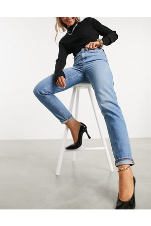 ASOS High rise farleigh 'slim' mom jeans in stonewash