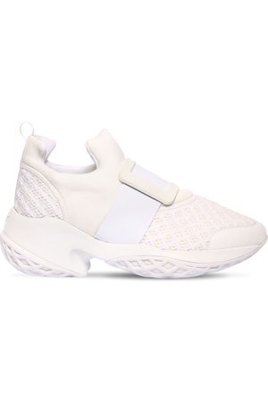 """Roger Vivier 75mm Hohe Sneakers Aus Neopren Und Leder """"viv Run"""""""