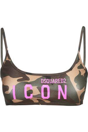 Dsquared2 Bandeau-oberteil Aus Jersey Mit Logodruck