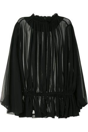 Comme des Garçons Damen Blusen - Draped semi-sheer blouse