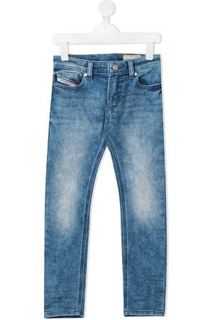 Diesel Jungen Jeans - Straight leg faded jeans