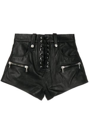 Unravel Project Damen Shorts - Lace-up zip-detail shorts