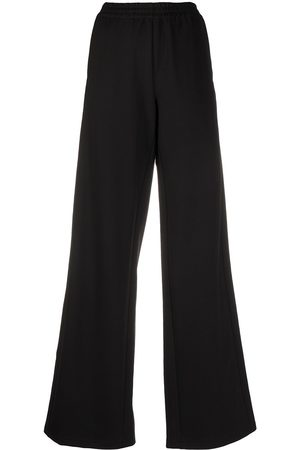 Unravel Project Side-stripe wide-leg track pants
