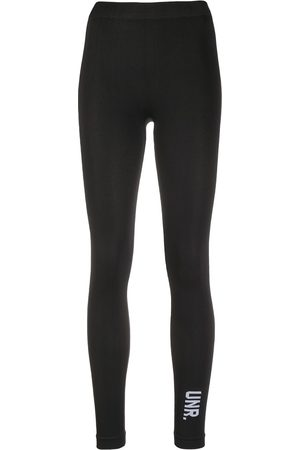 Unravel Project Damen Leggings & Treggings - Logo-print cropped leggings