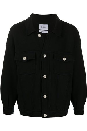 Barrie Herren Jeansjacken - Oversized knitted denim jacket