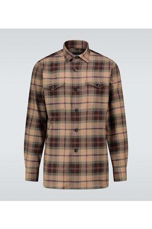LARDINI Kariertes Hemd aus Baumwollflanell