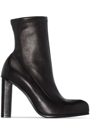 Alexander McQueen 110mm leather ankle boots