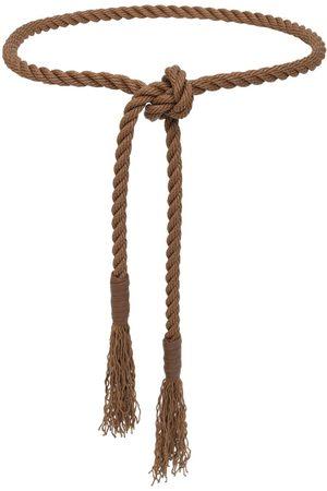 Max Mara High Waist Cotton Rope Belt