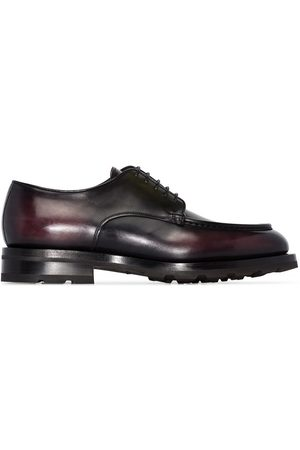 santoni Leather lace-up shoes