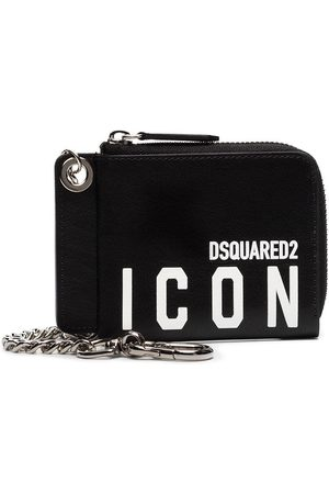 Dsquared2 Half-zip leather wallet