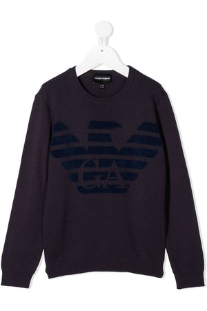 Emporio Armani Jungen Pullover - Logo print jumper