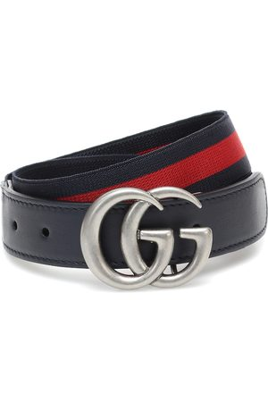 Gucci Gürtel GG mit Leder
