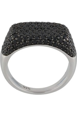 TOM WOOD Michel black spinel ring