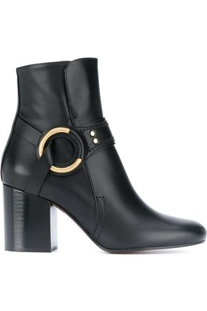 Chloé Ring detail leather boots