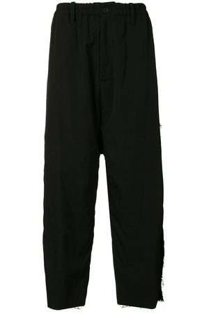 YOHJI YAMAMOTO Appliqué drop-crotch trousers