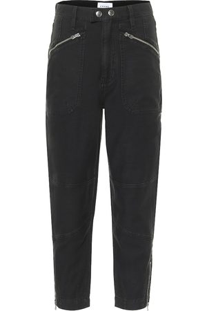 Frame High-Rise Jeans Moto Zip