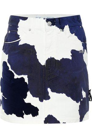 OFF-WHITE Bedruckter Jeansrock
