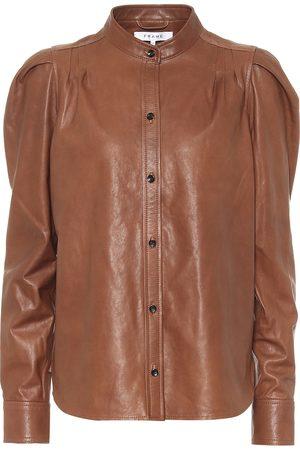 Frame Bluse Charlie aus Leder