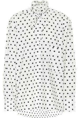 Plan C Bluse aus Baumwolle mit Polka-Dots