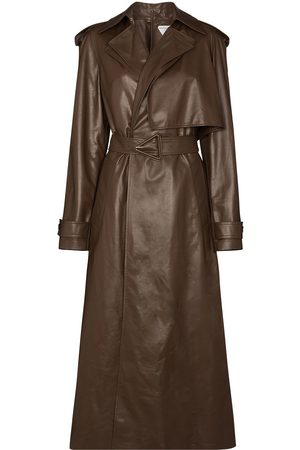 Bottega Veneta Damen Trenchcoats - Belted-waist leather trench coat