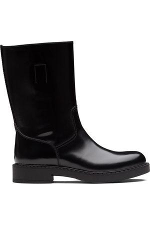 Prada Brushed-finish mid-calf boots