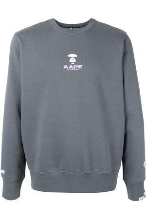 AAPE BY *A BATHING APE® Logo print crewneck sweatshirt
