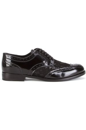 Dolce & Gabbana Lace detail leather derby shoes