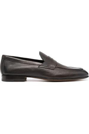 santoni Pebbled leather loafers