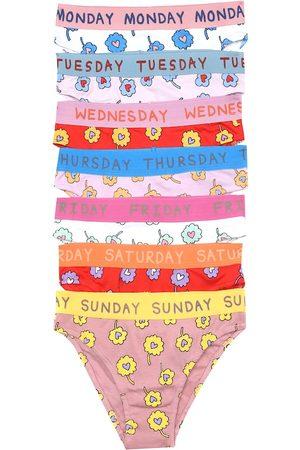 STELLA McCARTNEY Kids Damen Slips - Set aus sieben Unterhosen